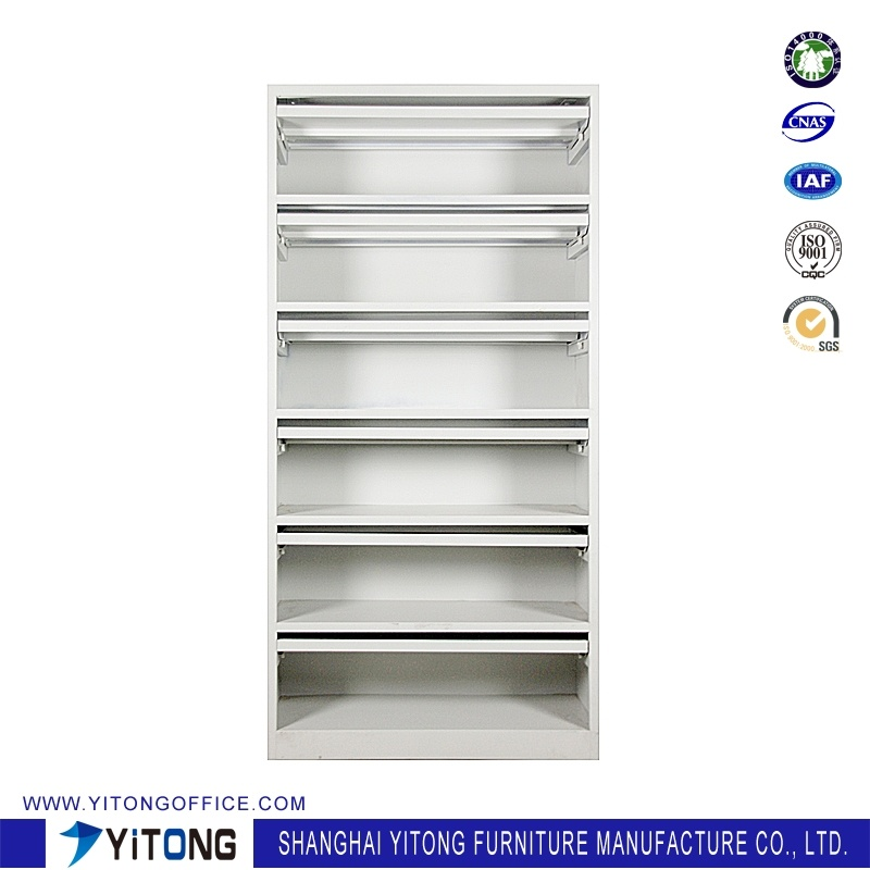 Yitong Magazine Rack Metal Storage Cabinet / Office Use Steel File Cabinet
