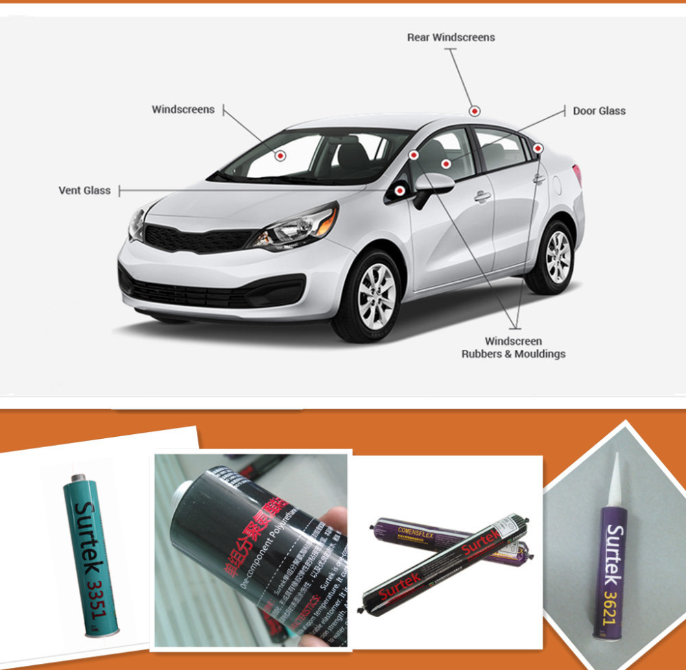 PU (Polyurethane) Windscreen Replacement Adhesive Sealant (Surtek 3355)