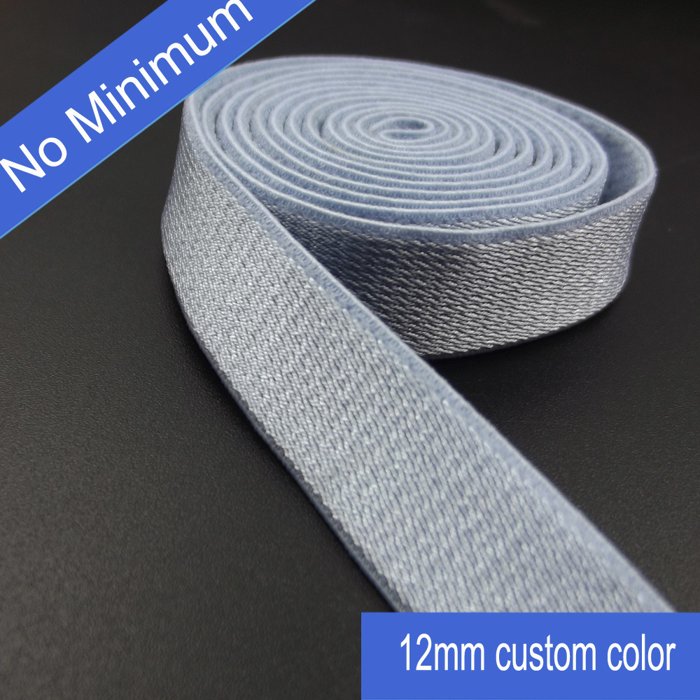 Custom Colors 12mm Elastic Shoulder Strap for Garment