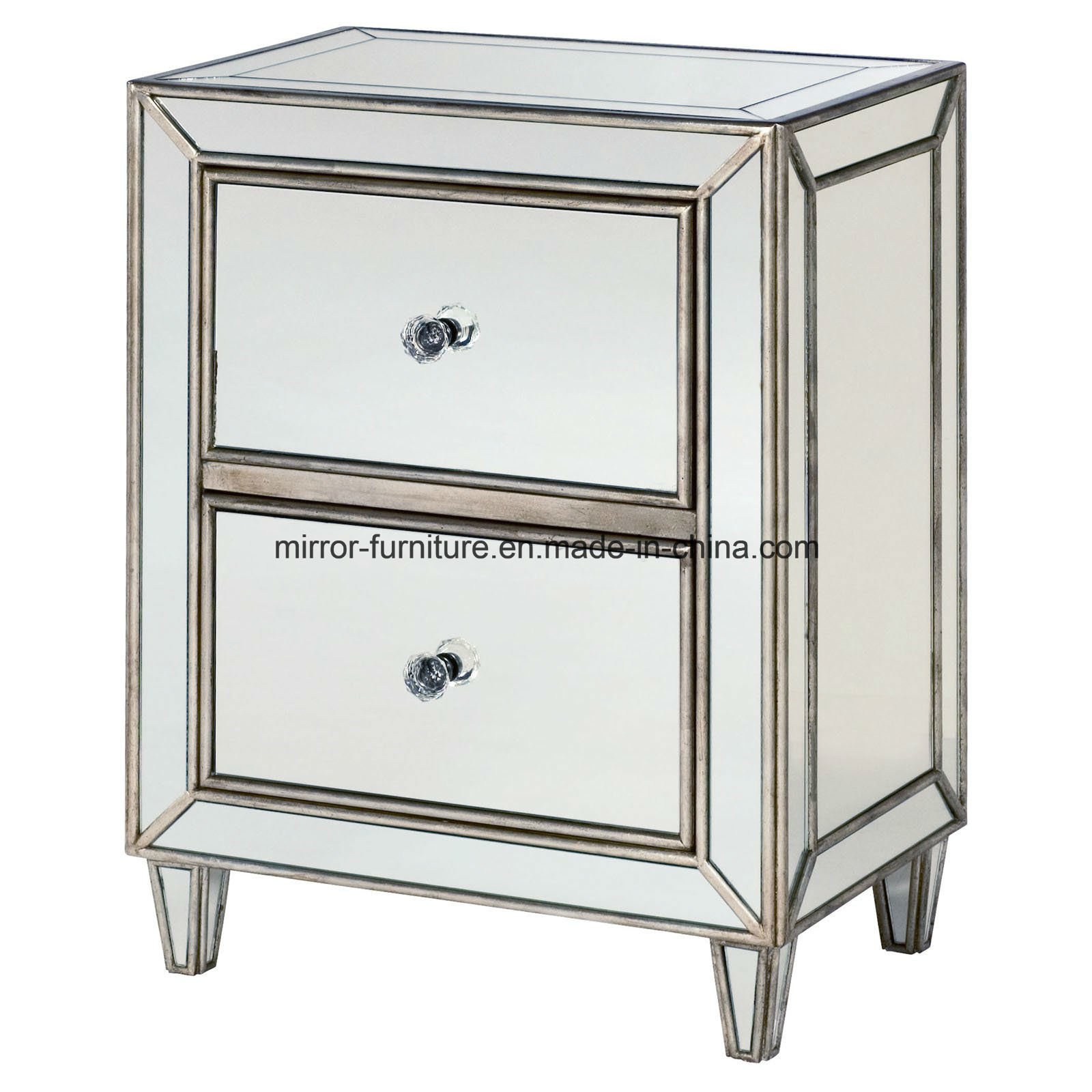 China High Quality Hotel Bedroom Furniture Mirror Nightstand