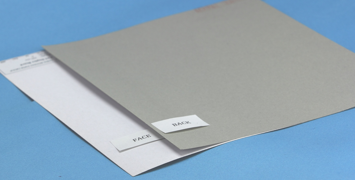White-Lined One-Side Coated Duplex Paperboard Grey Back