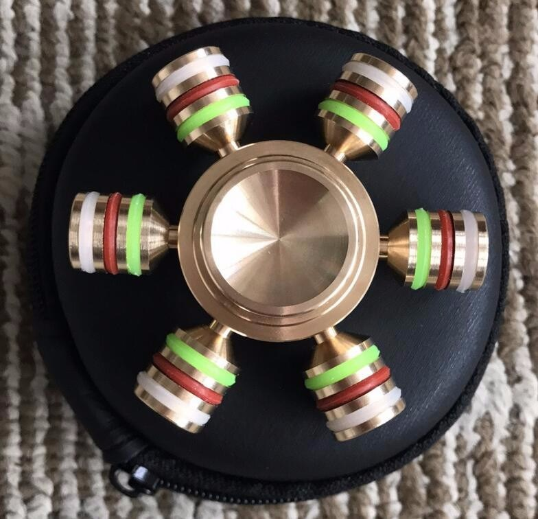 Wholesale Six Sides Fidget Spinner Toy Copper Metal Fidget pictures & photos