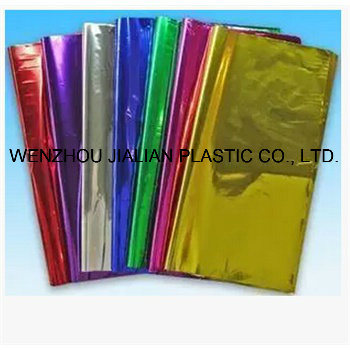 Rigid Metalized PVC Film/Sheet of Both Sides Blue Color for Garland Decorations