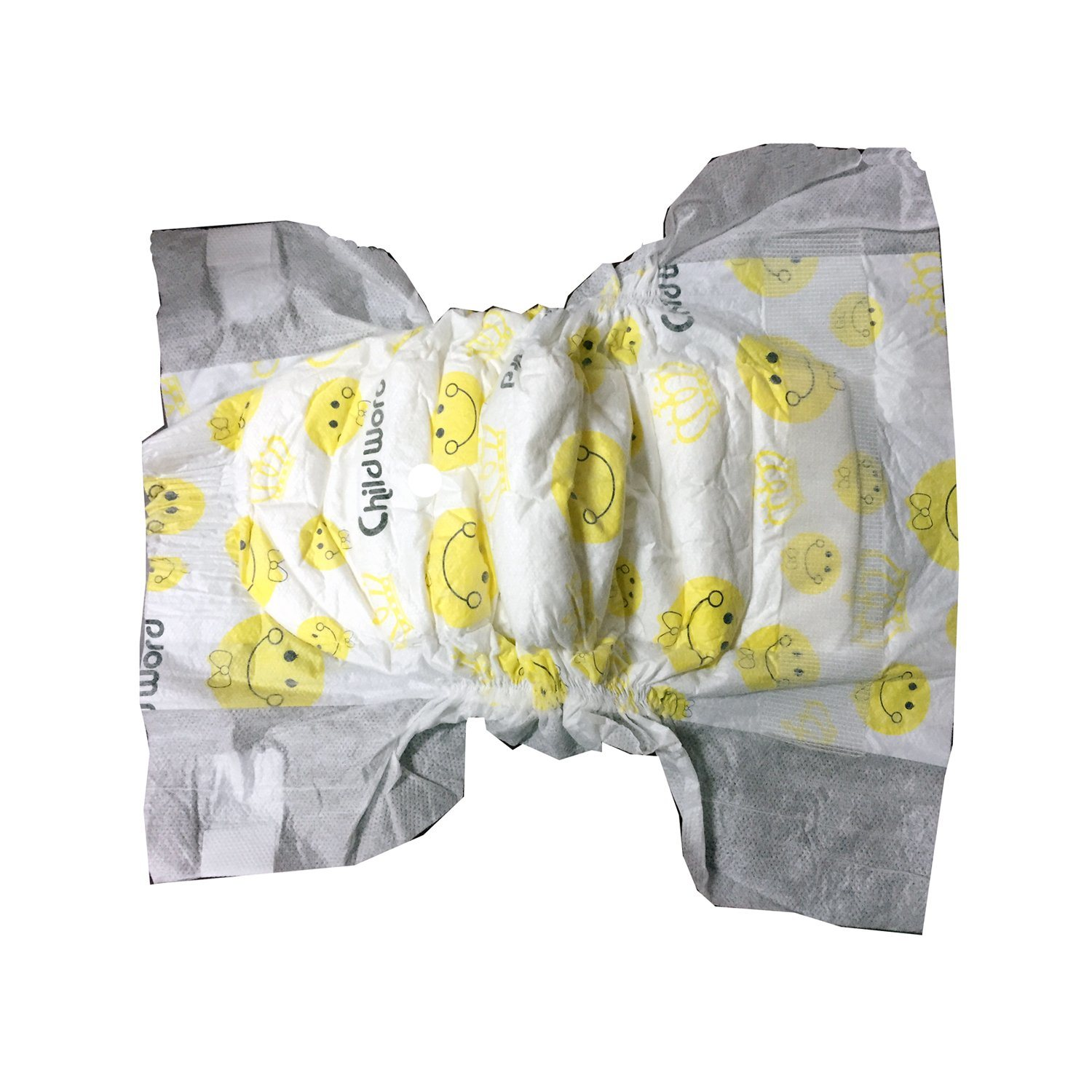Yellow Color Cartoon Design Clothlike Backsheet Disposable Diaper