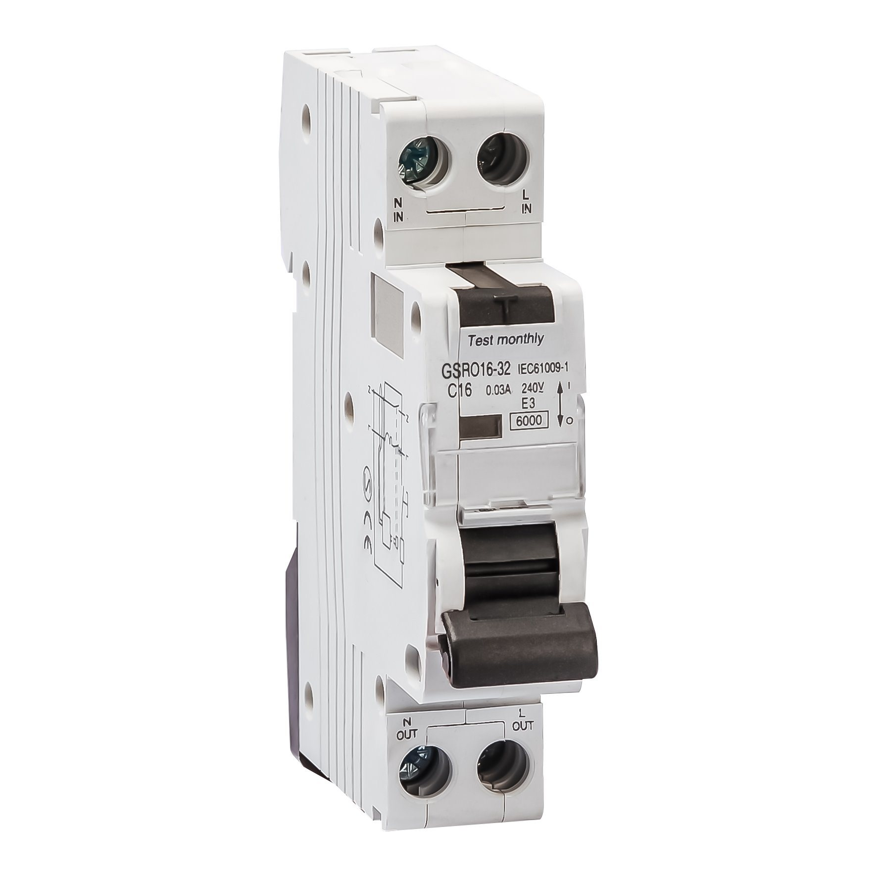 China Electronic Type With Overcurrent Protection Circuit Breaker Rcbo