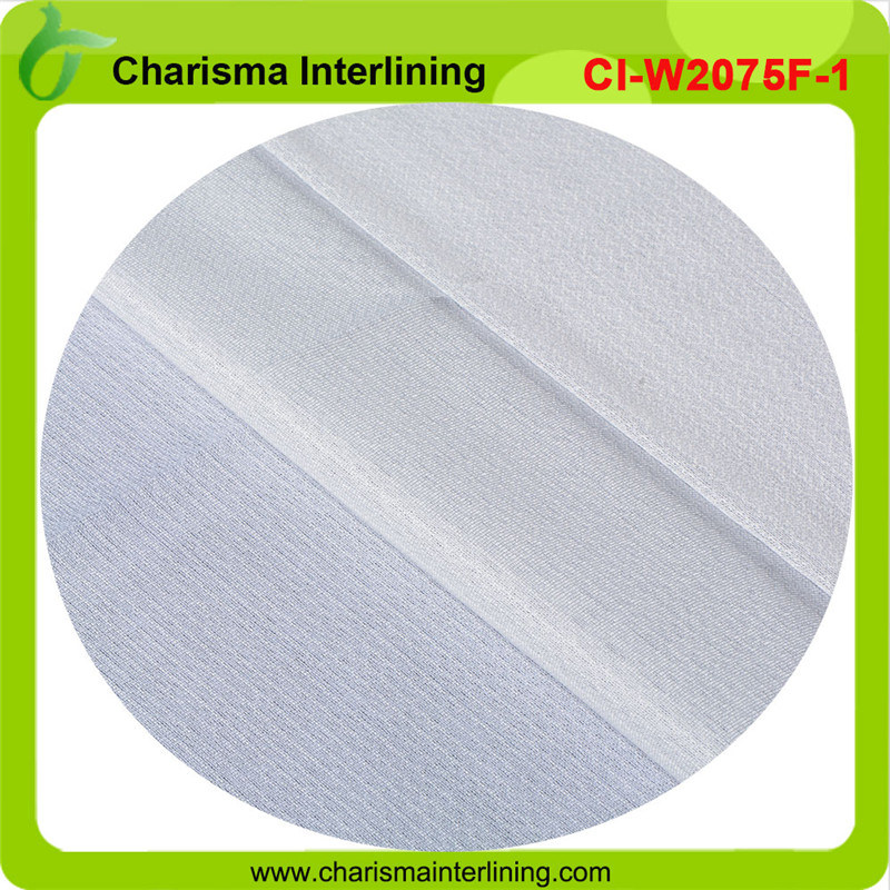 Fusible Weft Insert Circular Knitted Woven Interlining for Garments