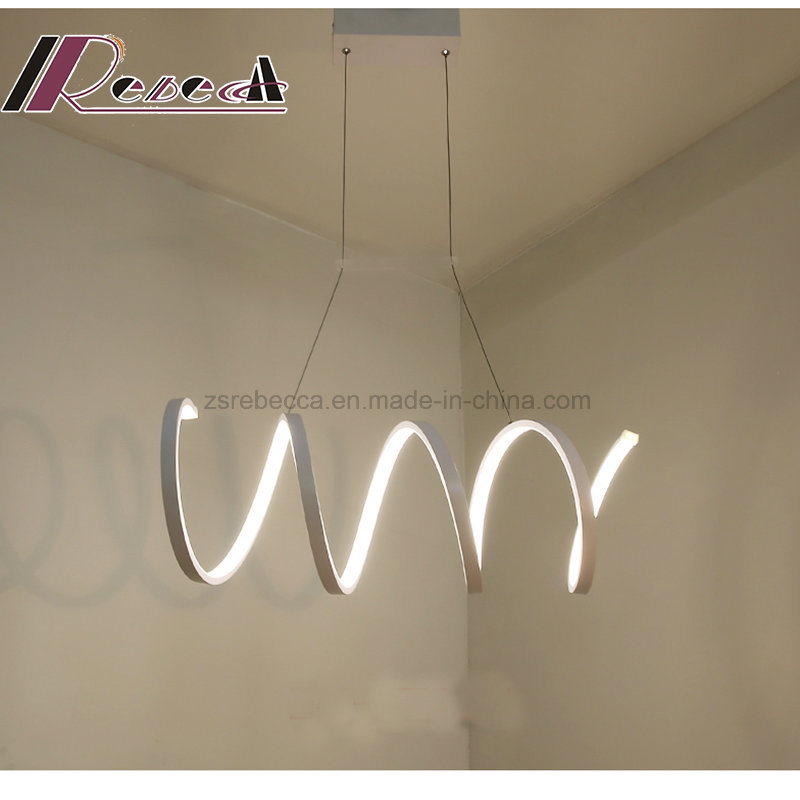 Spiral New White Aluminum Pendant Lamp for Dining Room pictures & photos