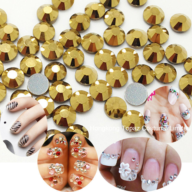 Fashion Non Hot Fix Crystal Rhinestones for Nail Art (FB-SS20 gold hematite) pictures & photos