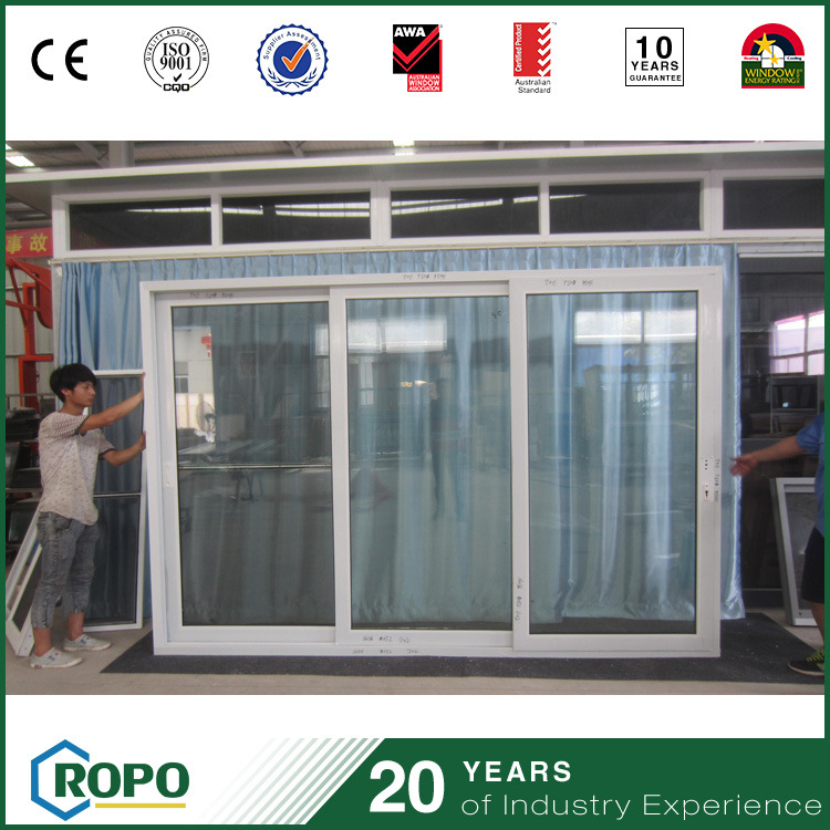China Pvc Glass Sliding Door Tempered Glass Door For Homes China