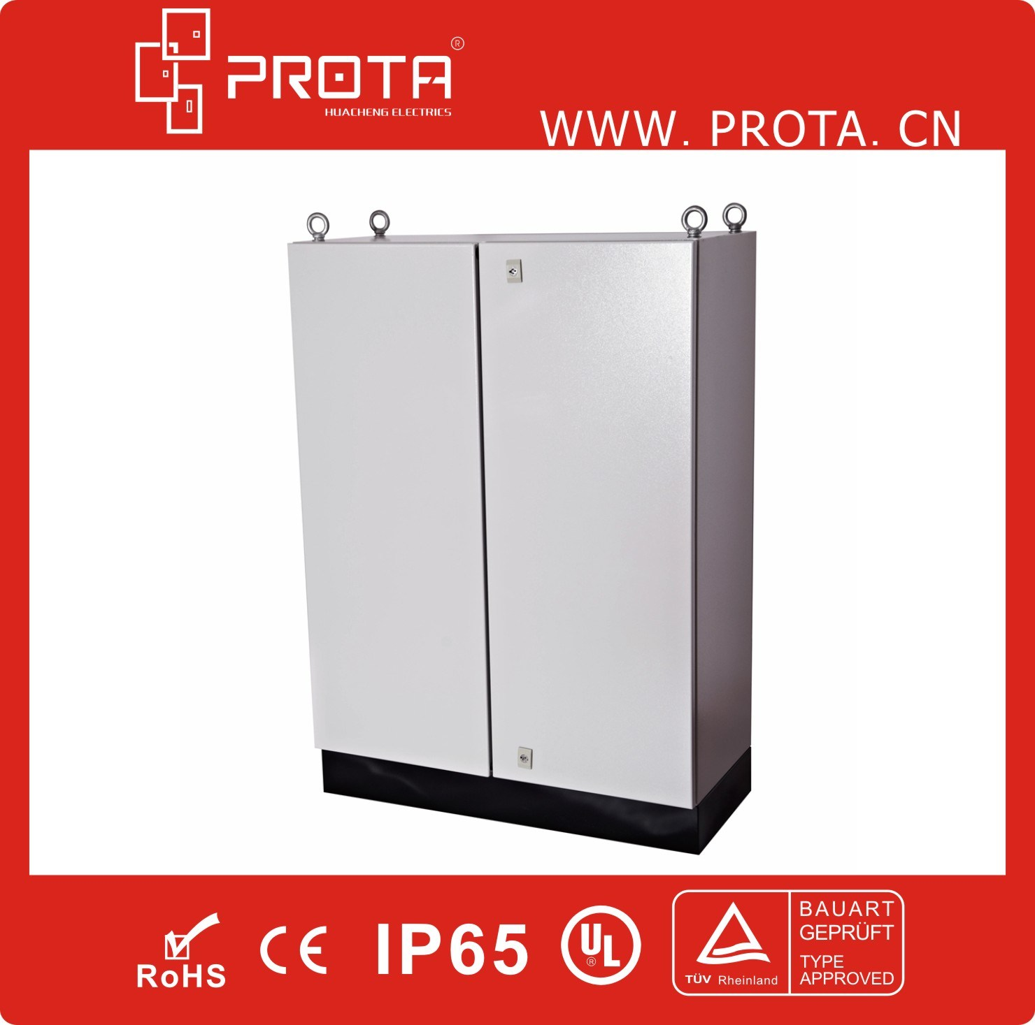 IP55 Floor Standing Cabinet Electrical Enclosure with Two Doors