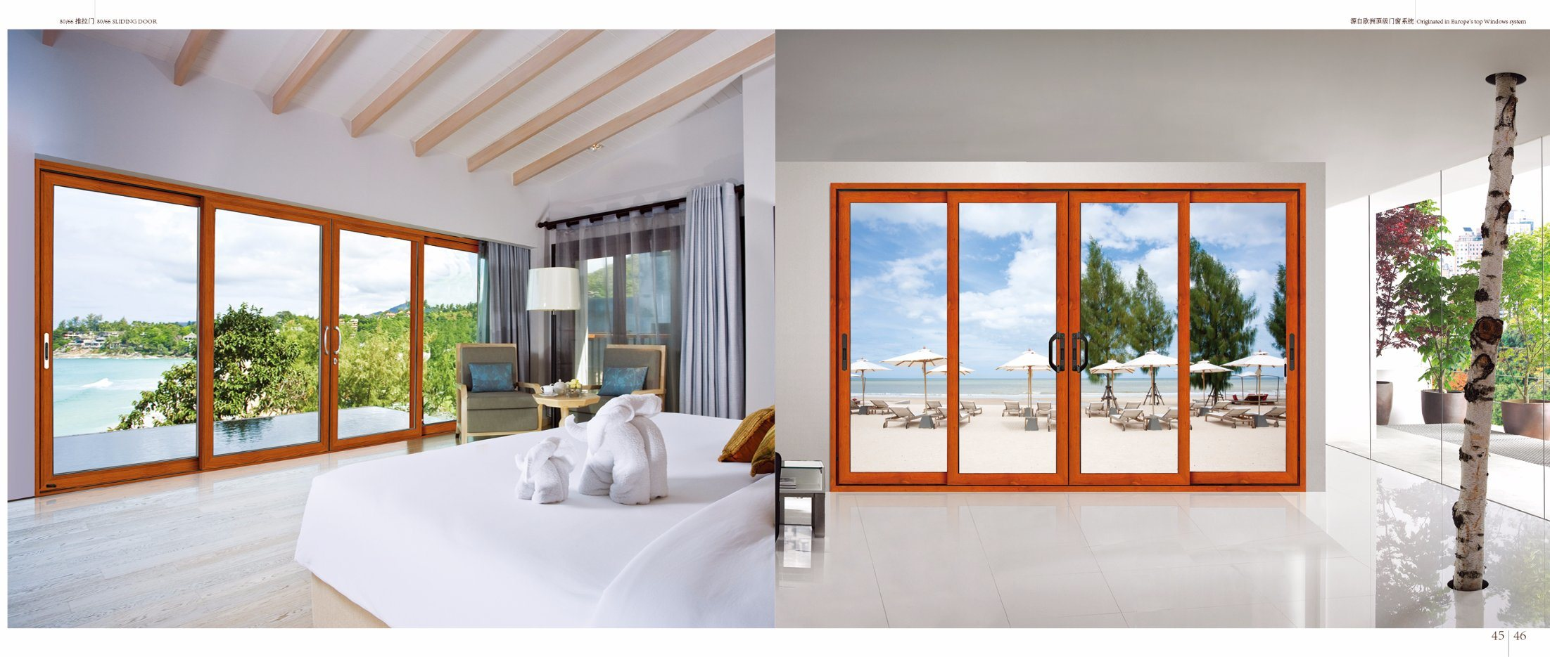 China Factory Price Aluminum Sliding Patio Door With Double Tempered
