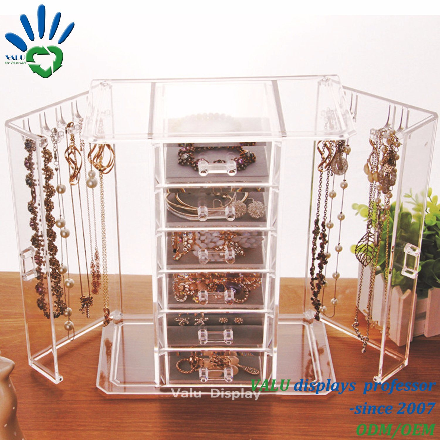 Clear Acrylic Earring Ring Jewelry Jewellery Display Stand Showcase