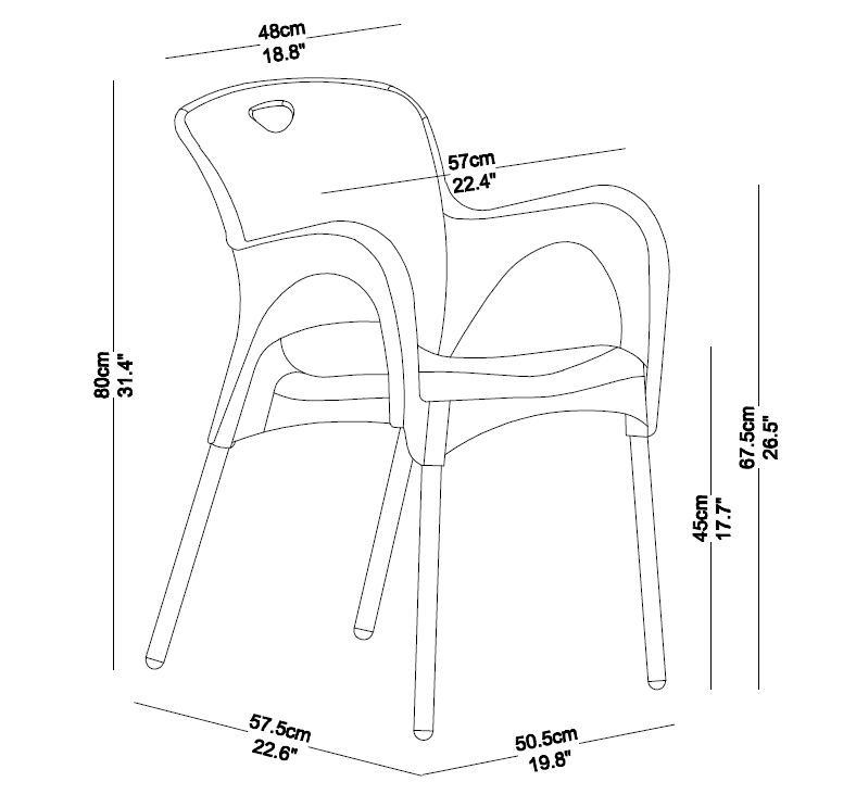 Camping Chair, Picnic Chair, Plastic Stack Conference Chair