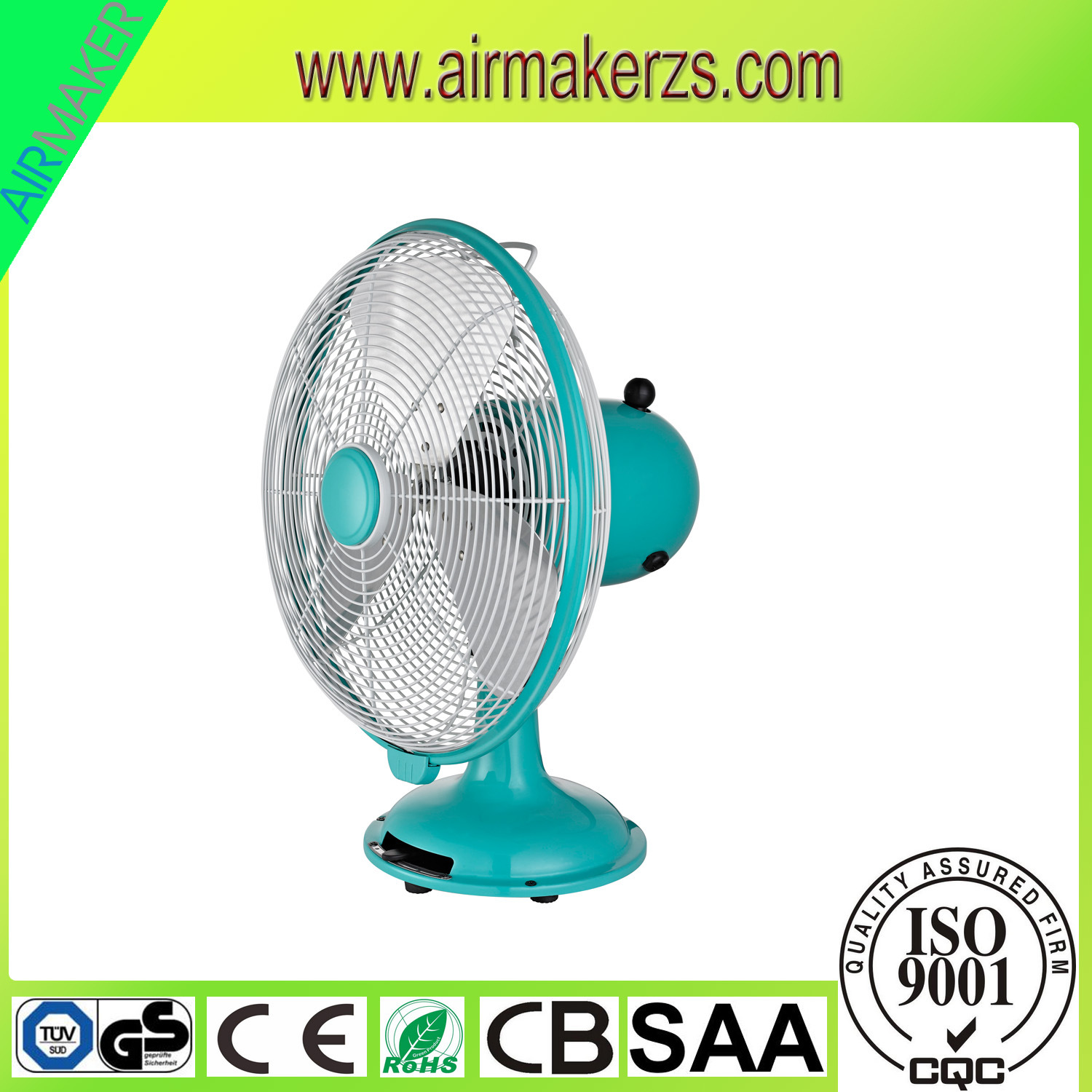 China 12 Inch Retro Metal Desk Fan With Gs Ce Saa Ventilating