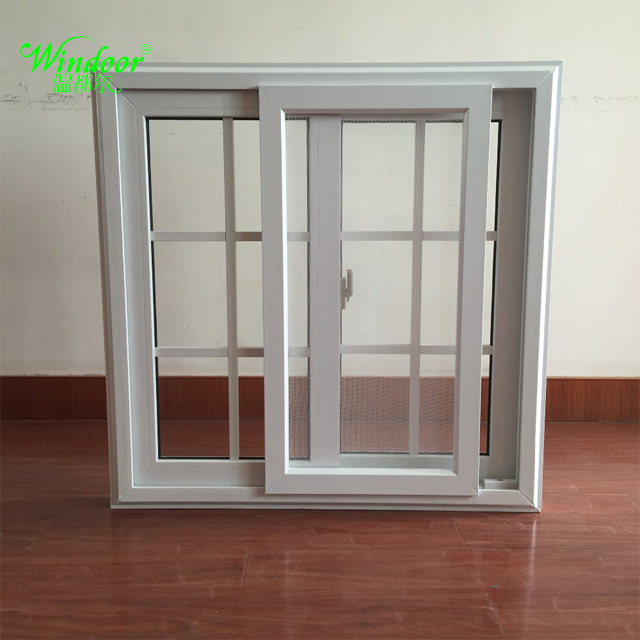 China Arch Top Grill Design Double Glazing Upvc Sliding Window Building Material