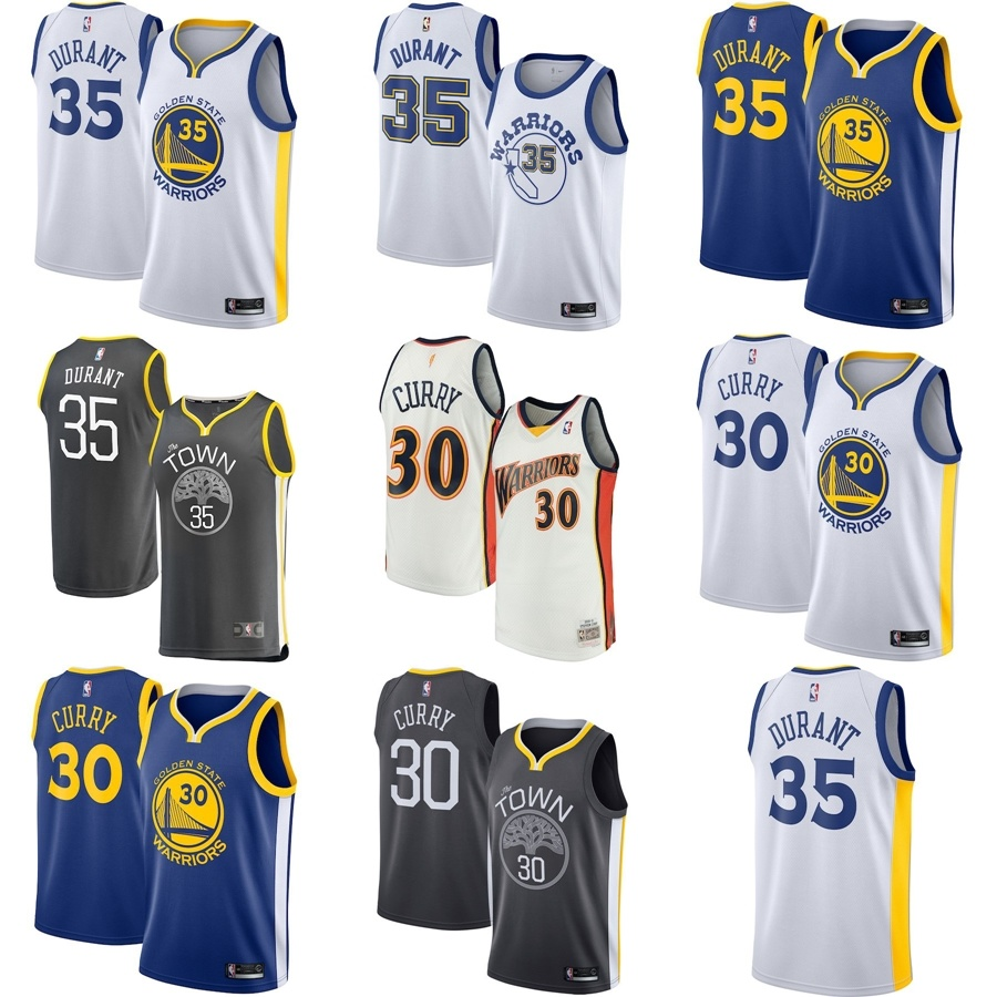 new arrival cd694 b8501 [Hot Item] Golden State Warriors Kevin Durant Stephen Curry Swingman  Basketball Jerseys