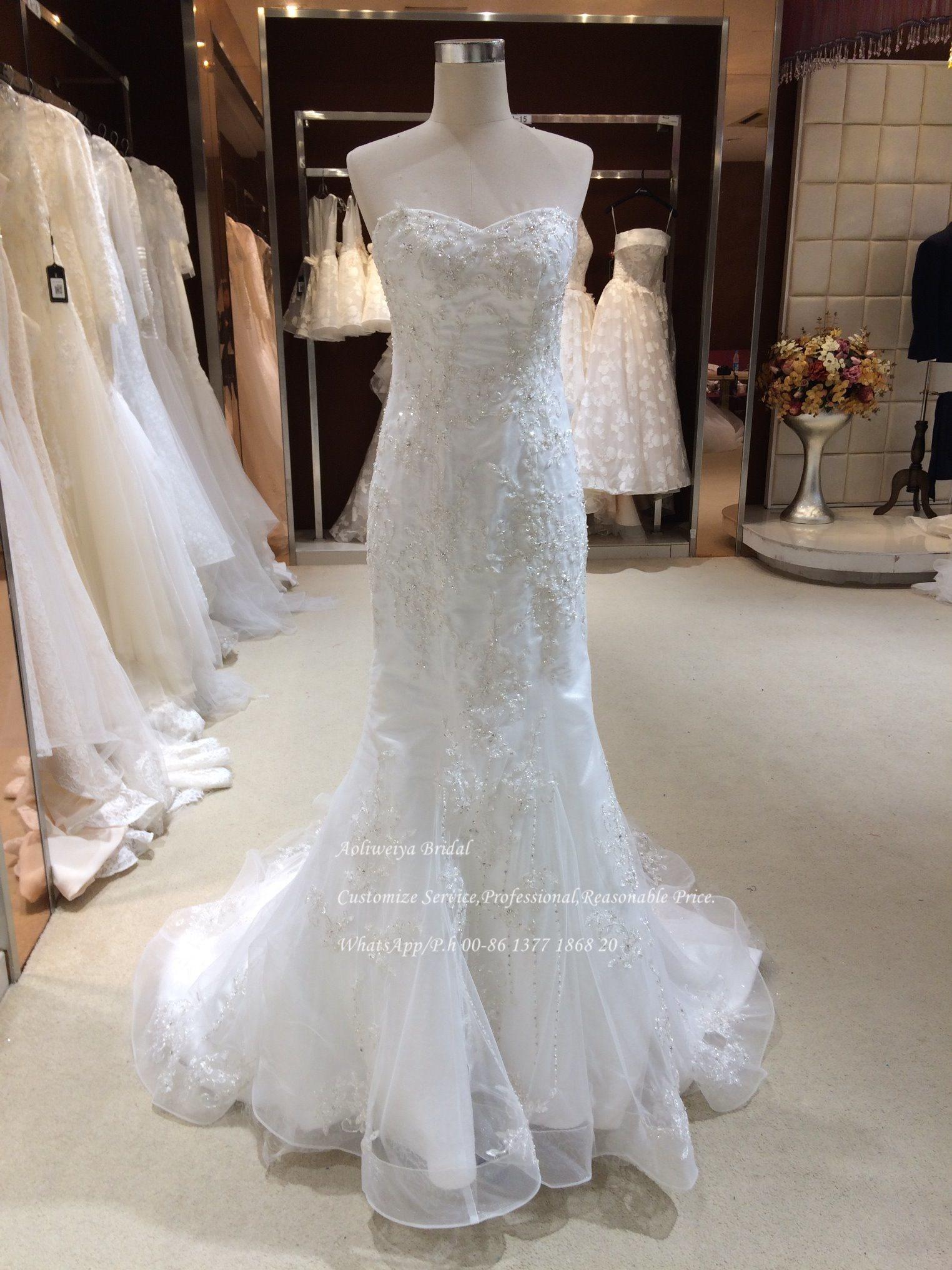 China Aolanes Mermaid Bead Lace Wedding Dress Bow - China Wedding ...