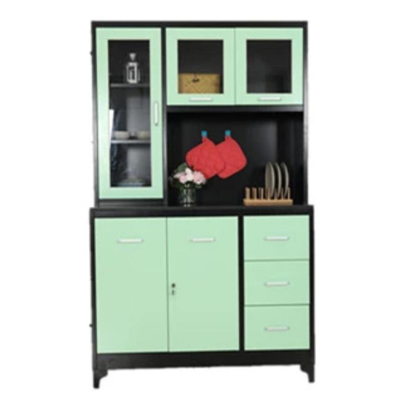 China New Design Kitchen Furniture Fast Assemble Metal Multi Functional Kitchen Cupboard China Drawer Cabinet Home Cupboard