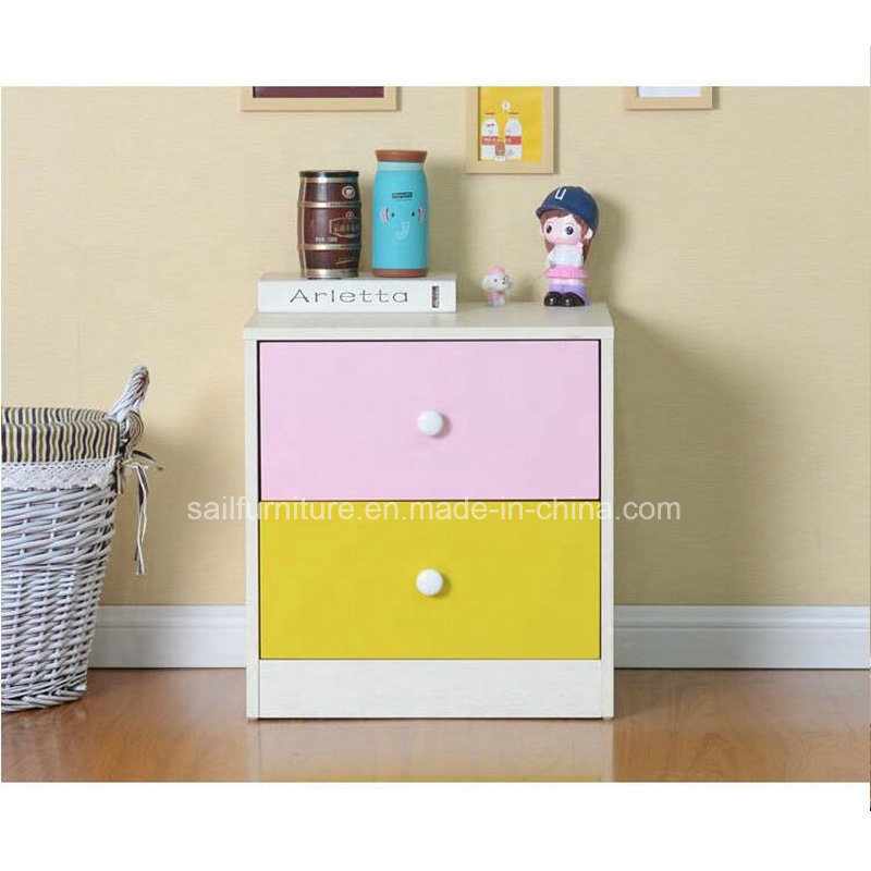 China Colorful Nightstand Wooden Bedroom Furniture Set ...