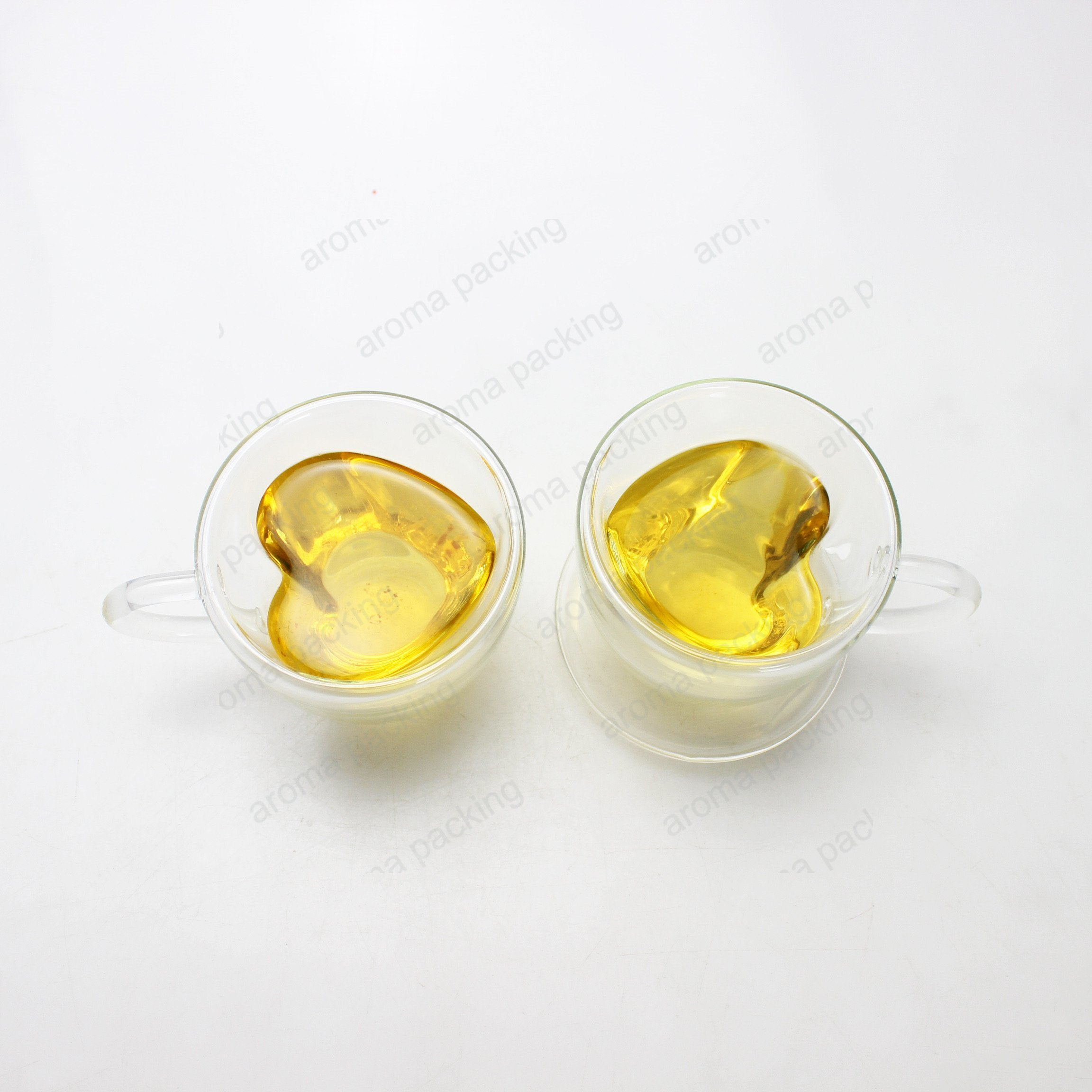 150ml 250ml Heart Shaped Double Wall Glass Tea Cup Coffee Mug pictures & photos