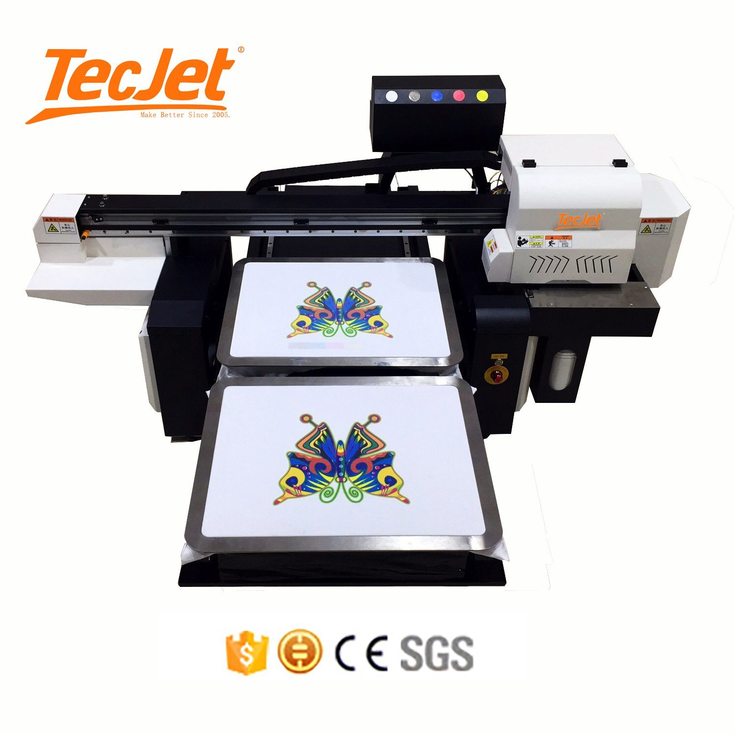 [Hot Item] Tecjet Price Digital T-Shirt Printing Machine 6090 DTG Printer