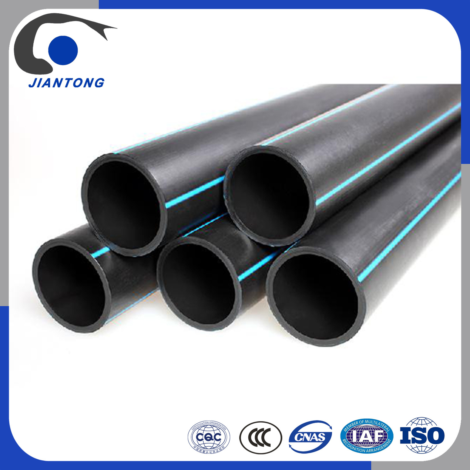 Hot Item Black Plastic Water Hdpe Pipe Manufacturers