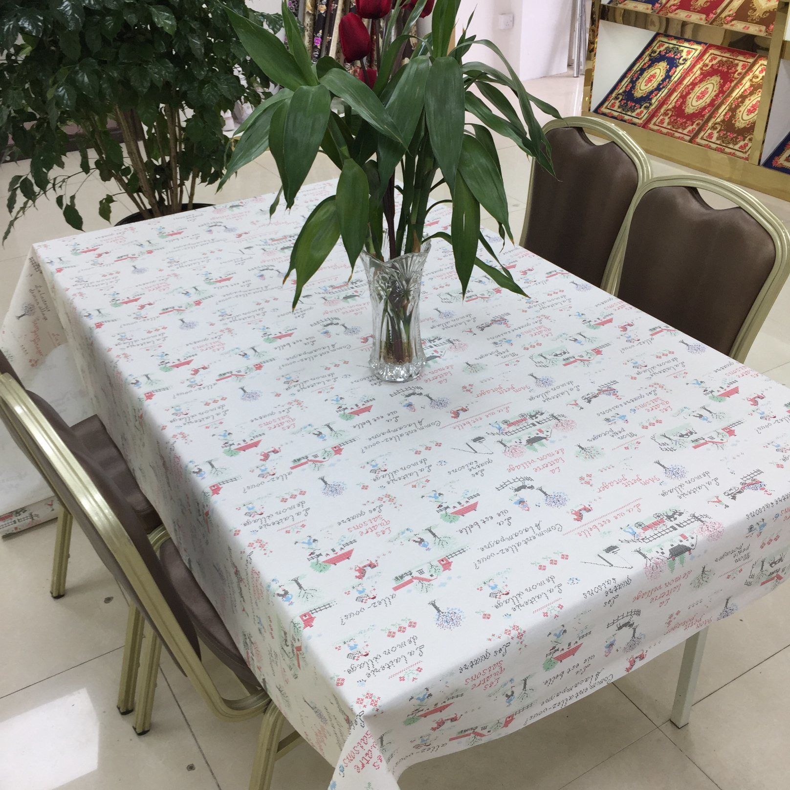 China Rectangular Shape PVC Material Custom Clear Plastic Table Cover - China Table Cover Table Cover with Fabric Backing & China Rectangular Shape PVC Material Custom Clear Plastic Table ...