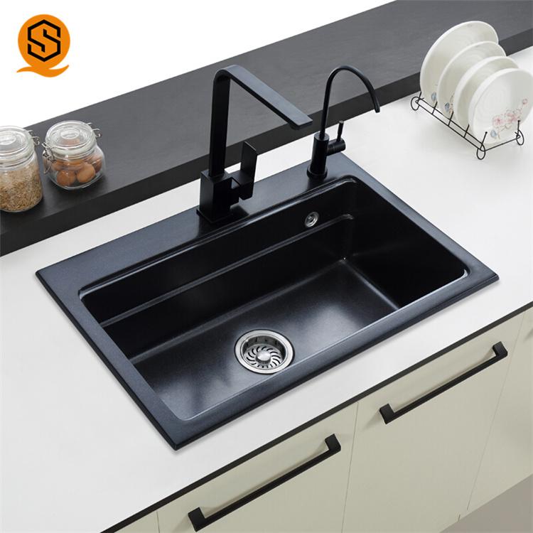 [Hot Item] Acrylic Solid Surface Undermount Corner Kitchen Sinks