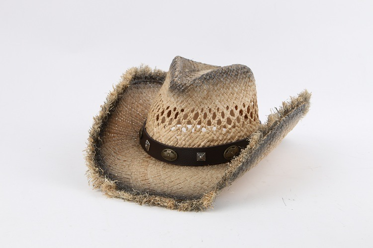 3d7fed397 [Hot Item] Promotion High Quality Raffia Straw Cowboy Hat