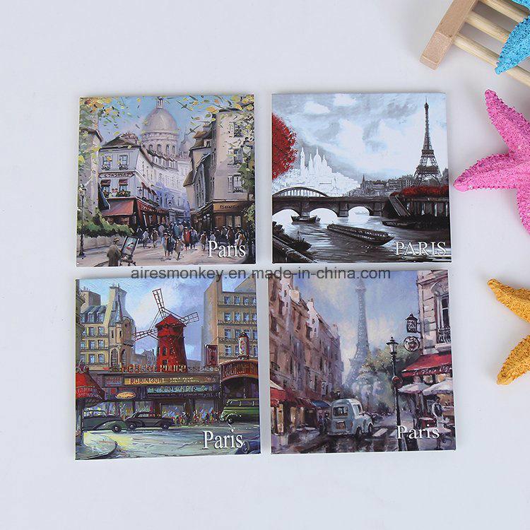 6x6cm Customized Printed Tinplate Fridge Magnet Custom Metal Magnets