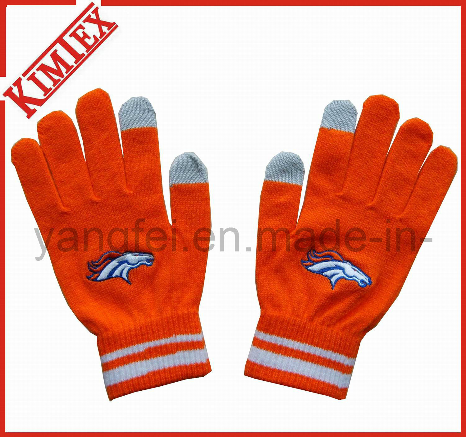 Acrylic Knitted Magic Screen Touch Glove for Promotion