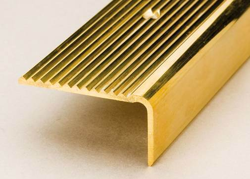 Brass Stair Nosing With Curved Nosing