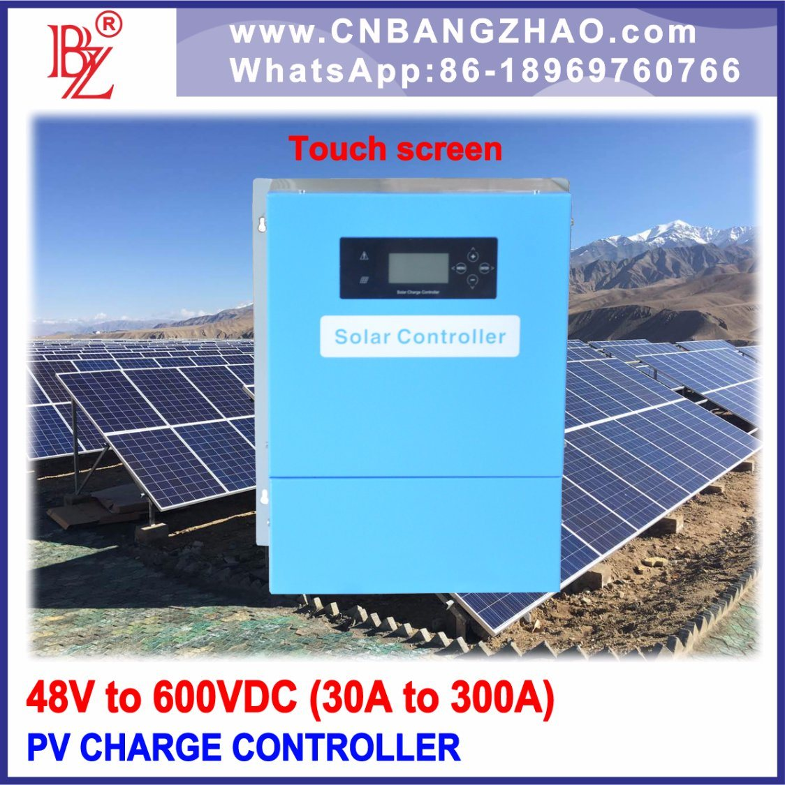 Solar Panel Battery Bank >> China 100a Solar Charge Regulator For 96v Battery Bank With Touch