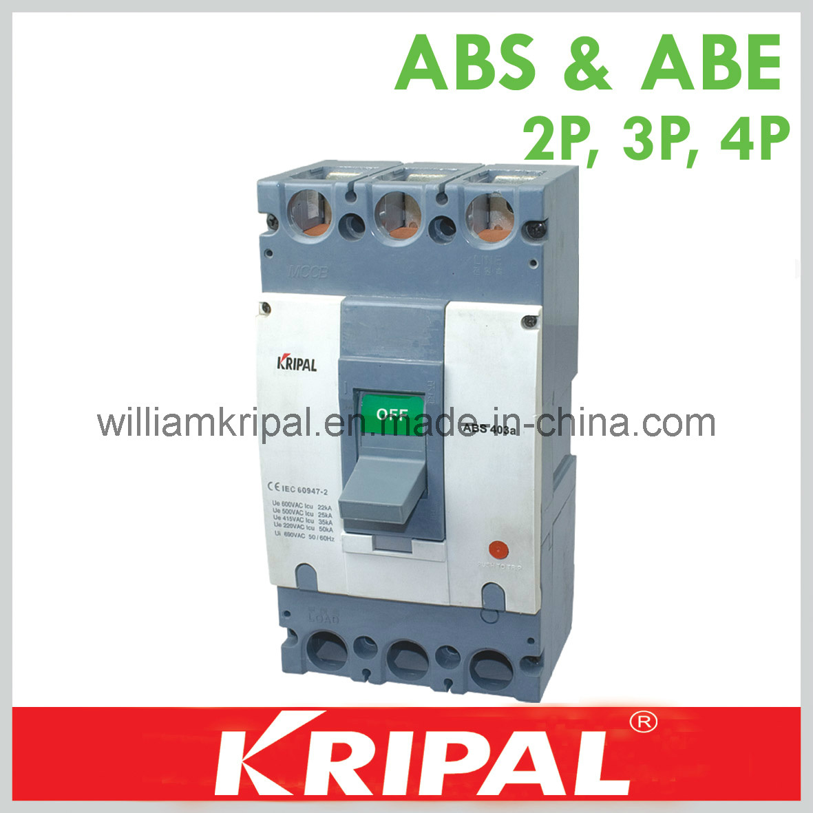 China ABS403 400A 3p Electric Circuit Protection Breaker - China ...