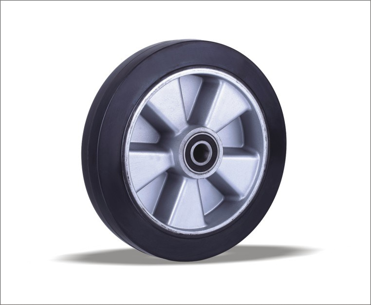 Rubber Wheels with Aluminum Center