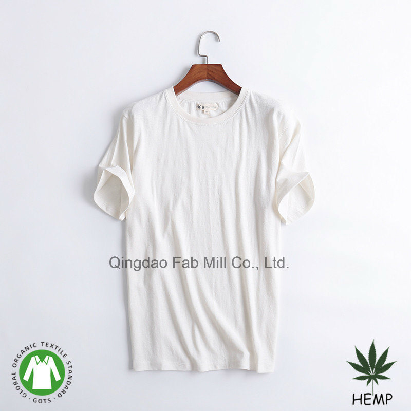 [Hot Item] Men′s Hemp Organic Cotton Eco Friendly Round Neck T Shirt (MST 180)