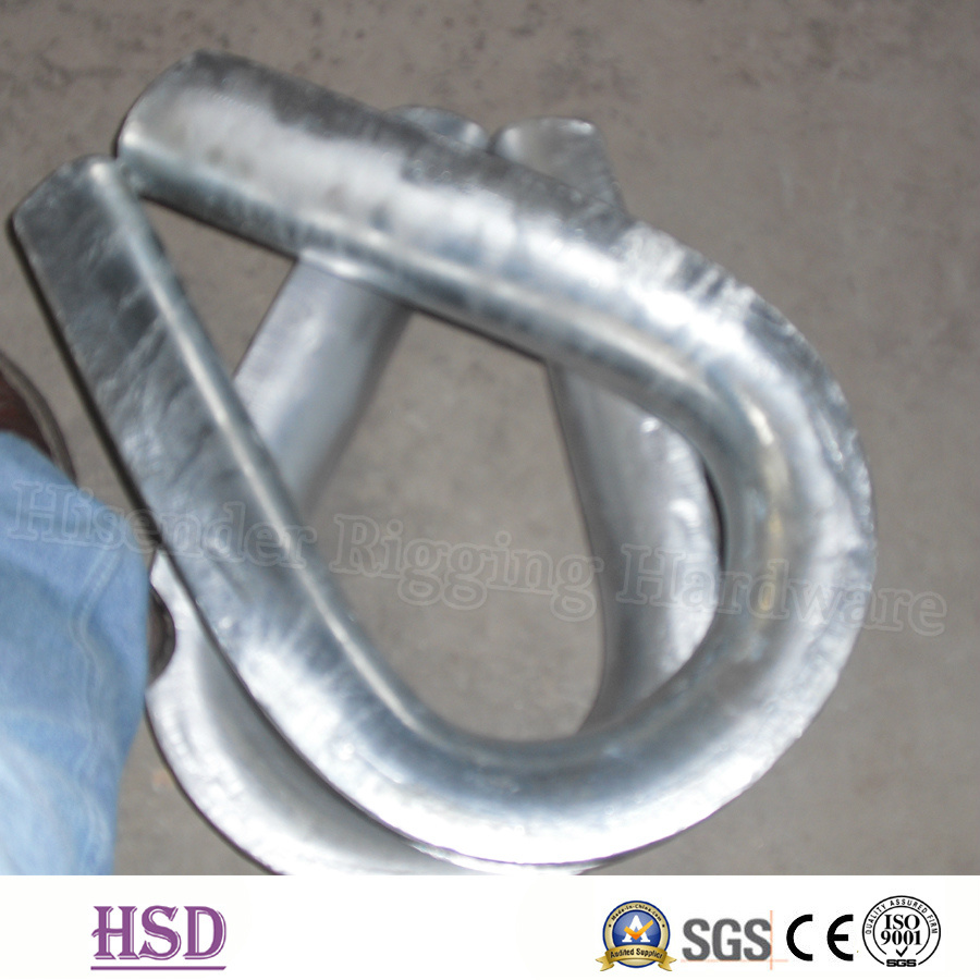 China Rigging Hardware E. Galvanized DIN6899A Wire Rope Thimble for ...