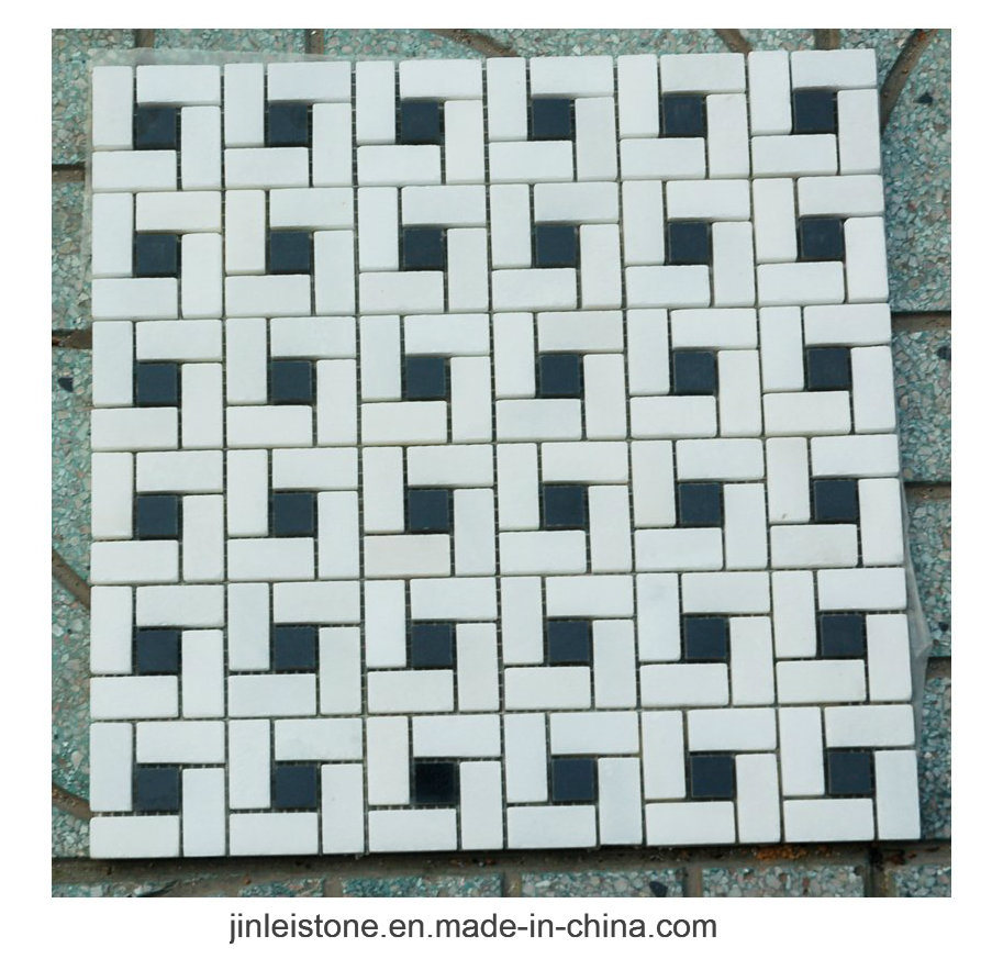 China Customized Dark Emperador Marble Mosaic Wall Tile for Bathroom ...