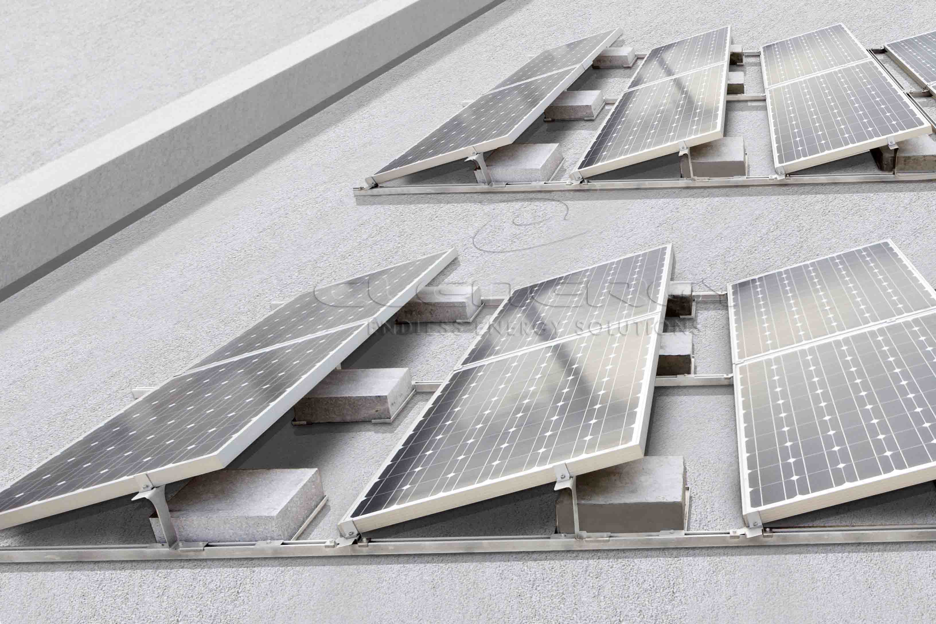 China Pv Ezrack Solarmatrix Flat Roof Mounting System