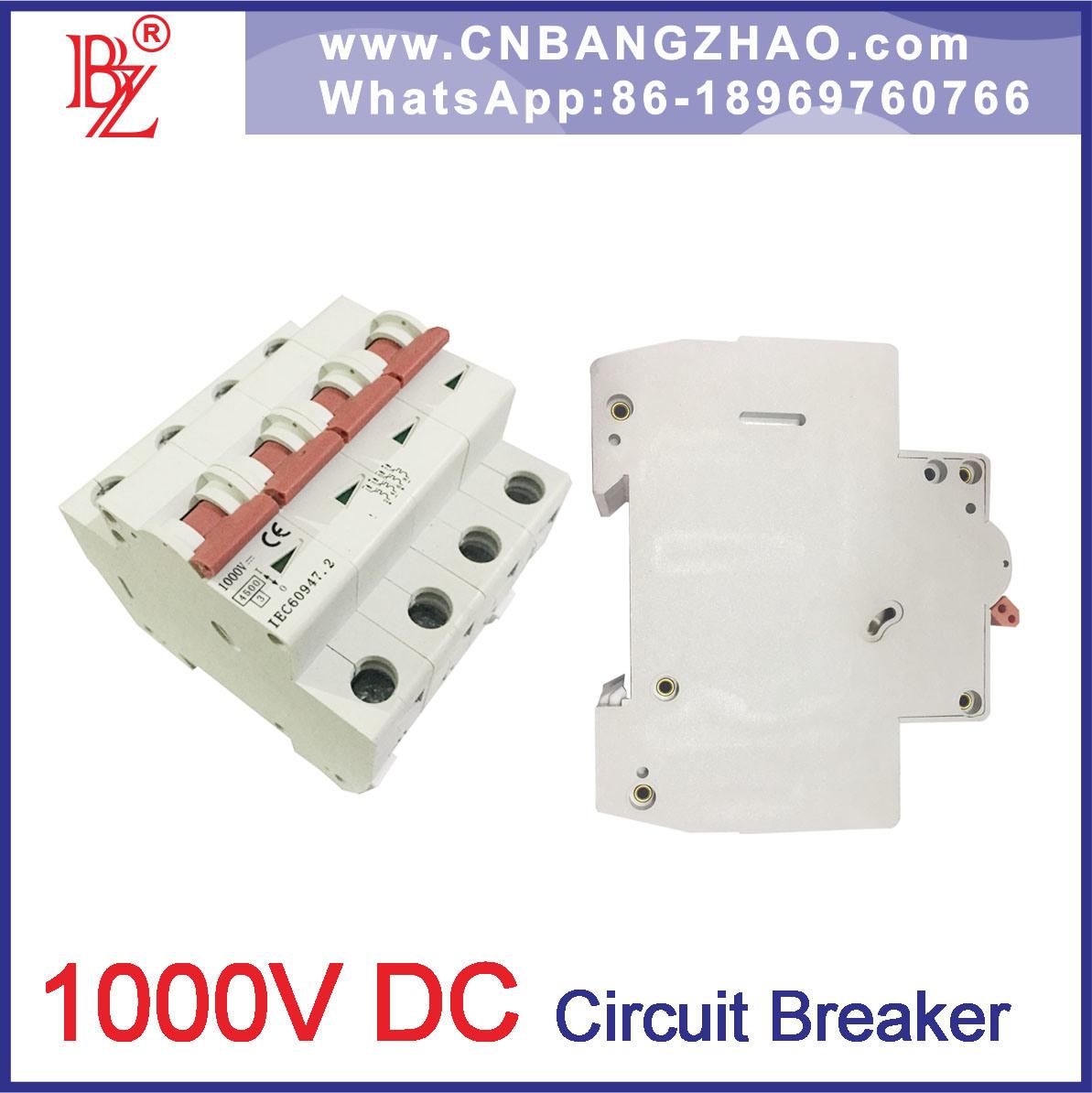 China 300-1000V DC Changeover Switch 1/2/3/4 Pole Mini Circuit Breaker Sun  Power MCB - China DC Circuit Breaker, DC Breaker