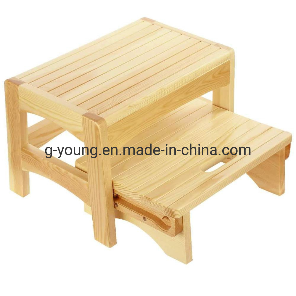 [Hot Item] Bamboo Child Bench Foot Stool Kitchen Stools Bed Step Stool