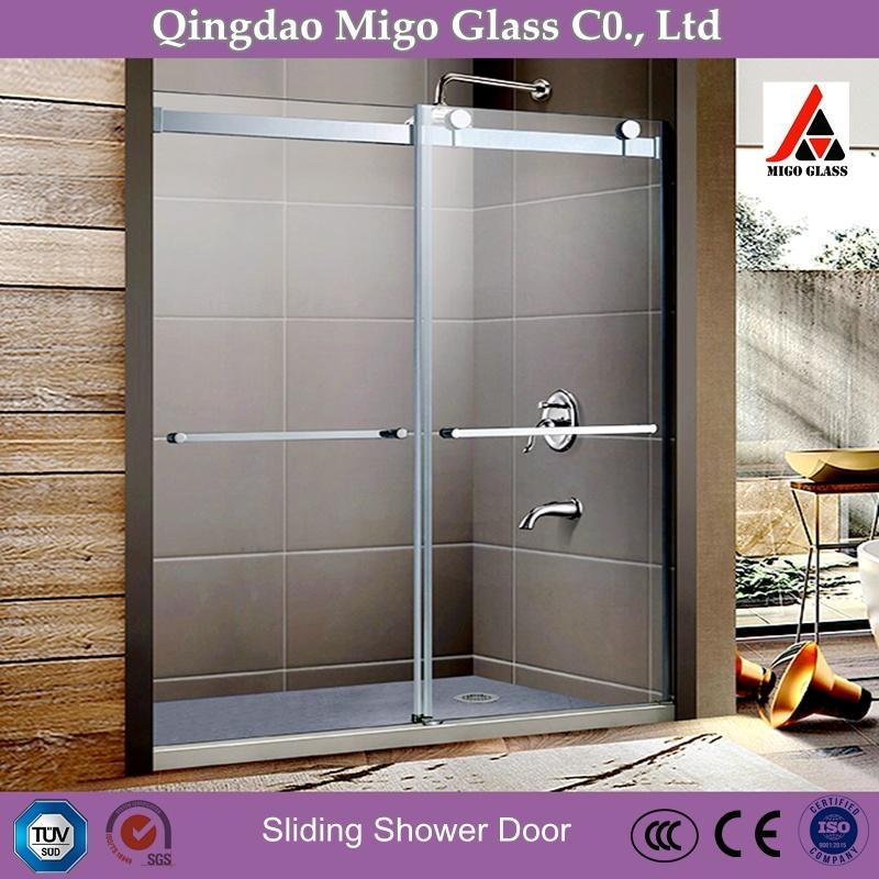 China Good Quality Bypass Frameless Sliding Glass Door Bathroom Shower Door China Sliding Door Glass Door