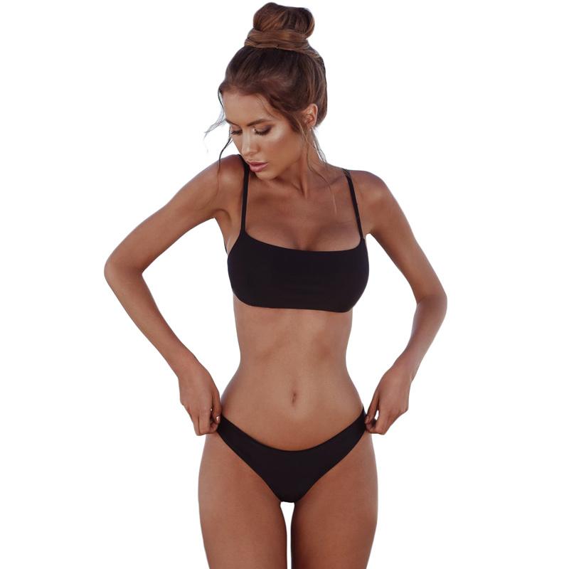 99f421cd8788 China Newest Design Ladies Black Plain Two Piece Swimsuit - China Swimsuit,  Design Swimsuit