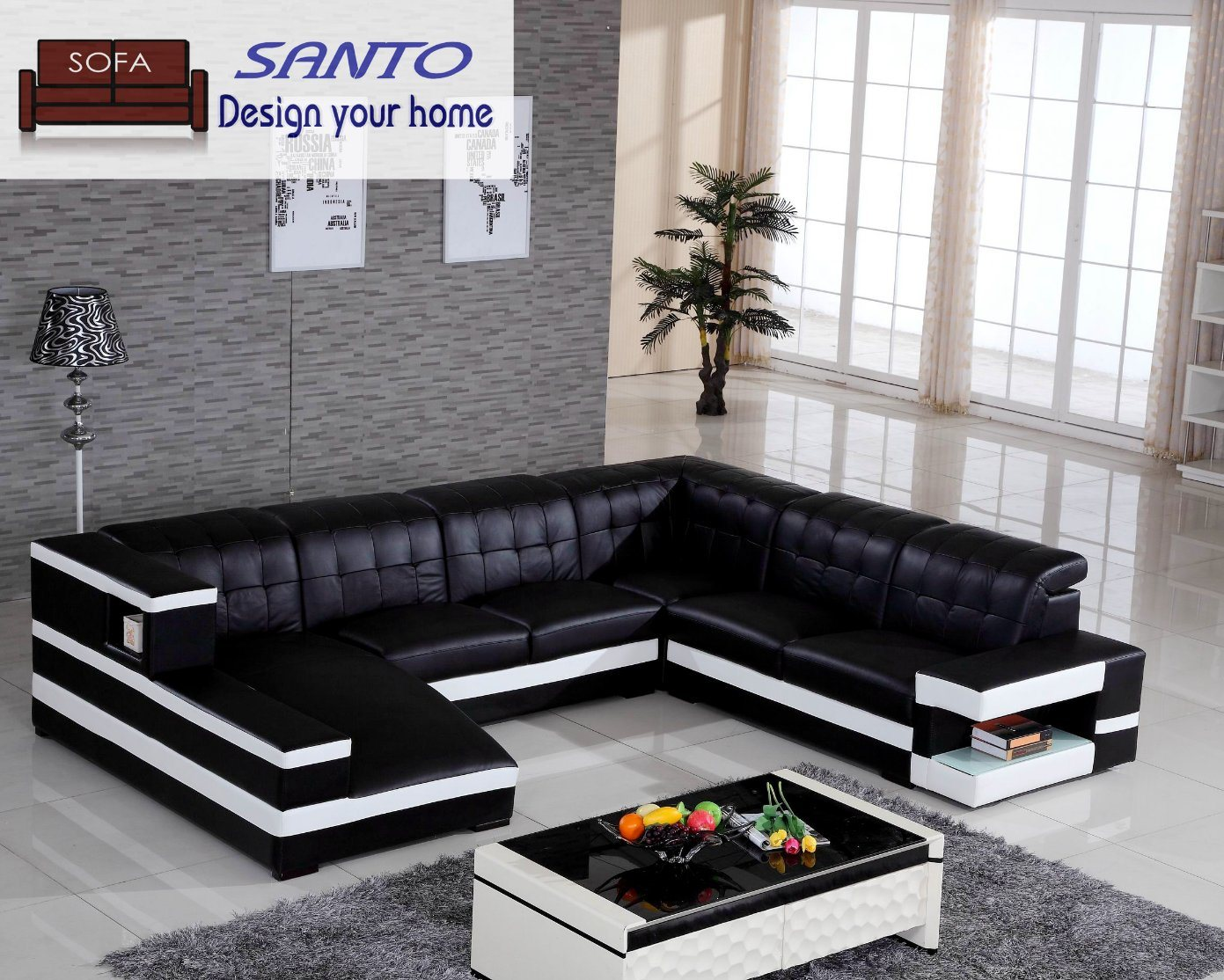 China U Shape Luxury Promotion Classic Modern Corner Living Room