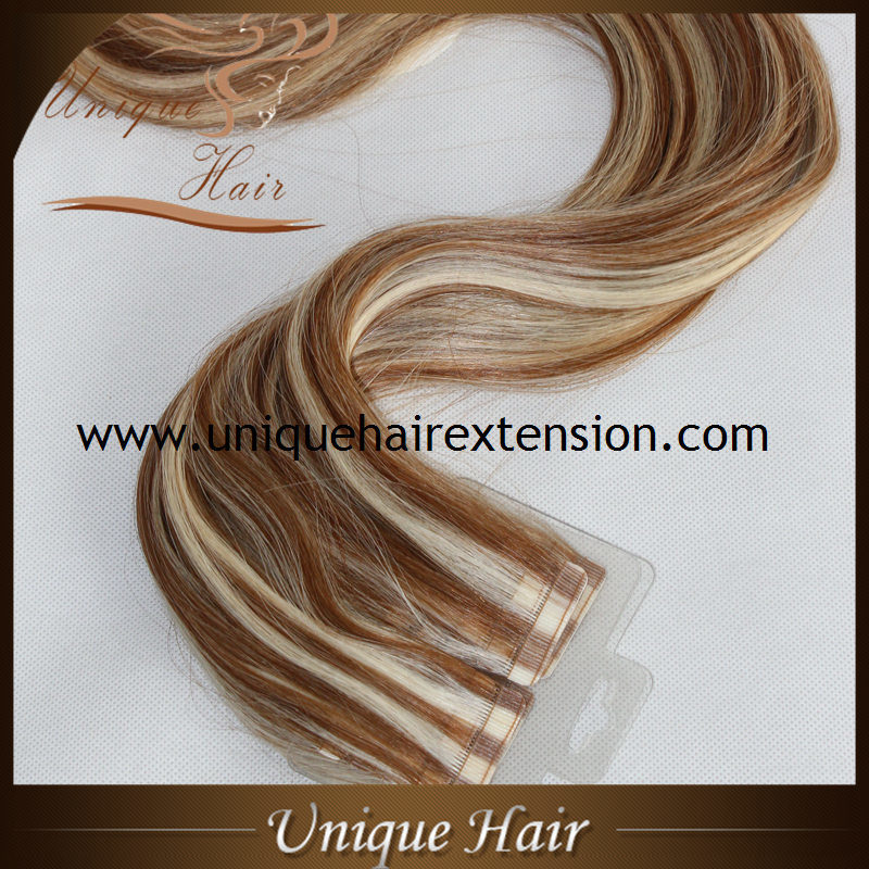 China Best Quality European Remy Double Sided Tape In Hair