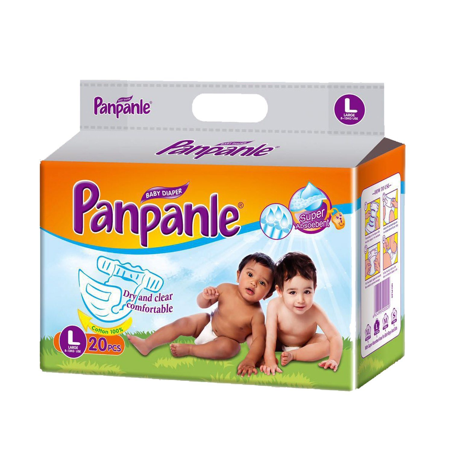 5packs in Polybag Cotton Type Film Disposable Baby Diaper