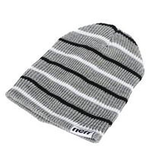 b2b35df77 [Hot Item] Fashion Grey Striped Slouch Beanie Hat, Knit Hat (JRK257)