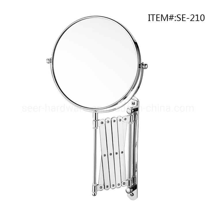 China Metal Bathroom Hinged Adjustable, Magnifying Wall Mirrors For Bathroom