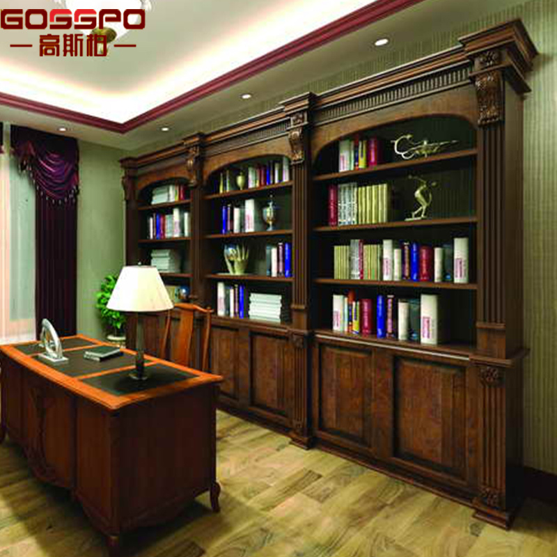 Hot Item Home Office Bookcase Bookshelf With Doors Gsp18 022