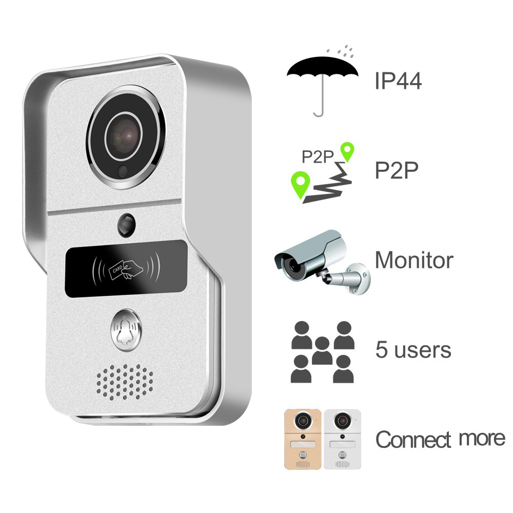 Outdoor WiFi Video Door Bell with RFID Access Control Function